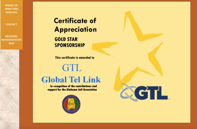 Global Tel Link Sponsorship