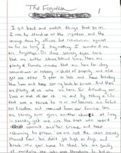 The Forgotten - an inmates statement regarding the criminal judicial system in Alabama.