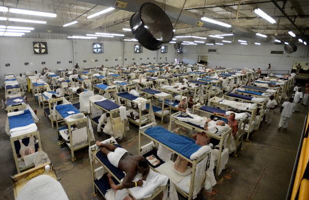 Inmates in a dormitory at Staton Correctional Facility Wednesday, Sept. 4, 2013, in Elmore, Ala. (Julie Bennett/jbennett@al.com) (JULIE BENNETT)