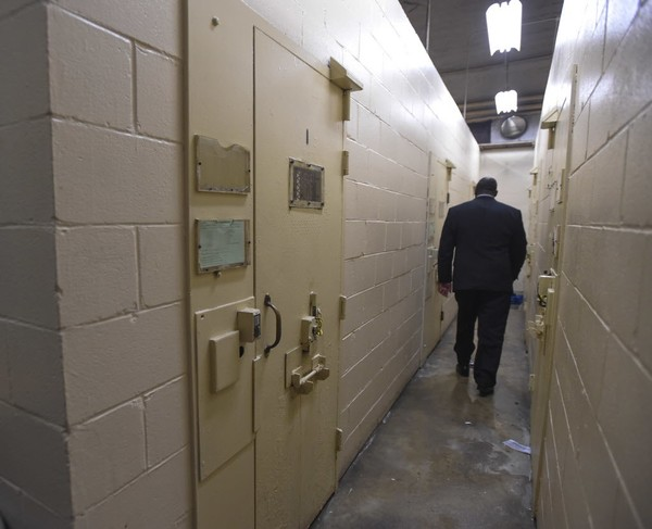 The disciplinary segregation ward at Draper Correctional Facility during a media tour of the prison in February 2017. (Julie Bennett/jbennett@al.com)