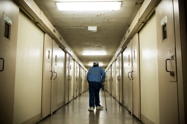 An inmate who has hepatitis C at California Men's Colony prison in San Luis Obispo, Calif. Prisons are a logical battleground in the fight against the virus. Credit Andrew Burton/Getty Images